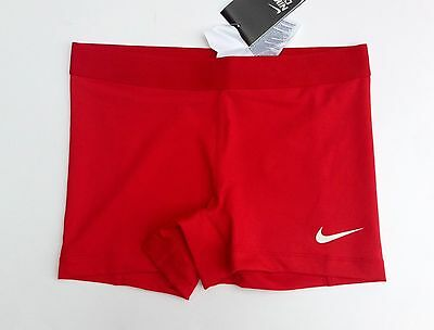 """Nike Women's Pro Combat Core 2.5"""" Compression Competition Dri-Fit Shorts Red New"""