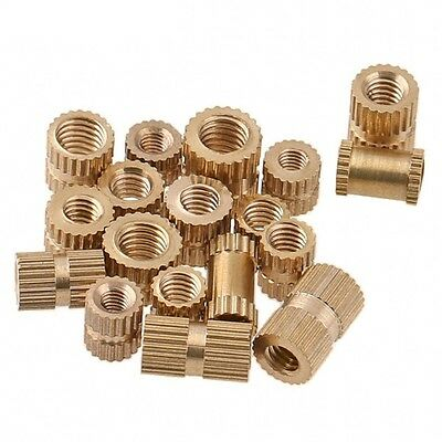 M4 M5 M6 M8 Brass Solid Knurled Nuts Thumb Nuts Insert Embedded Nuts