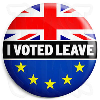 I Voted Leave - EU European Union - 25mm Button Badge - In Out Europe Referendum