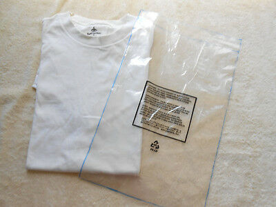 T Shirt Bags Display Store Sales Clothing Sales Clear Bags Liquidation!  ( 1000)