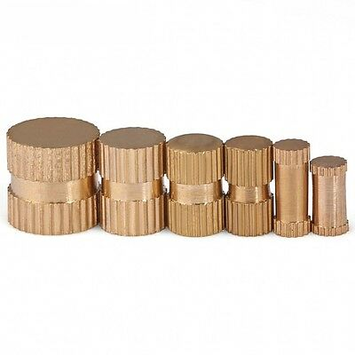 M3 M4 M5 M6 M8 Brass Solid Knurled Nuts Thumb Nuts Insert Nuts Blind-Hole