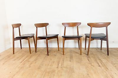 Vintage Retro Set of 6 Harry Ostergaard Teak Dining Chairs