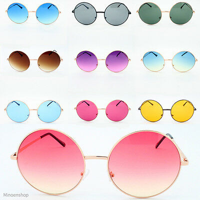 Oversized Hippie Fashion Retro Large Round Lennon Ladies sunglasses