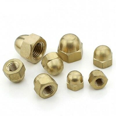 Solid Brass Hex Dome Nuts Acorn Cap Nuts For Bolts & Screws M3,4,5,6,8,10,12,20