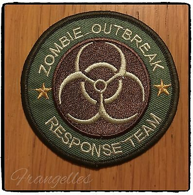 Zombie Outbreak Response Team Apocalypse Iron Or Sew On Embroidered Patch Badge