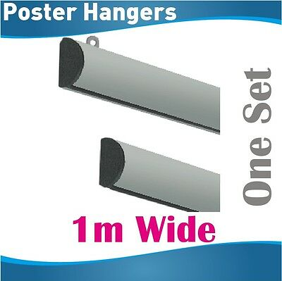 1m Poster Hangers Gripper Poster hanging rail hang rails