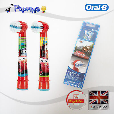 Braun Oral-B Kids Stages Power Disney Cars Toothbrush 2 Heads Extra Soft