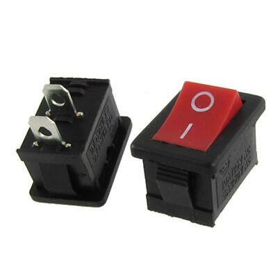 2x SPST Square Red Rocker Switch 12V DC 2-Pin On/Off Car/Boat/Truck/Motorcycle