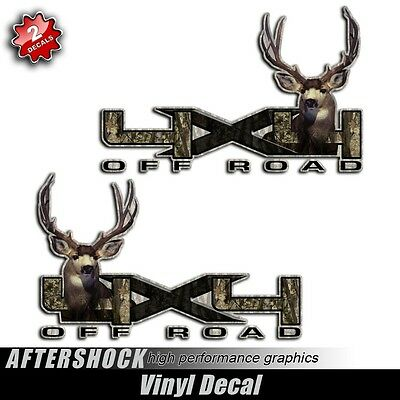 4x4 Mule Deer sticker - truck camo decal muley hunting graphic buck