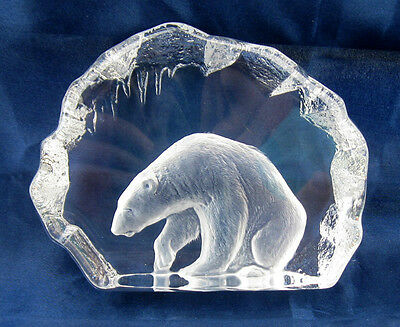 "Mats Jonasson Polar Bear Large 5-3/4"" x 4-1/2""  Retail $275"