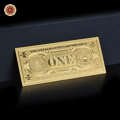 American $1 One US Dollar  Gold Banknote Dollar  Uncirculated For Collection