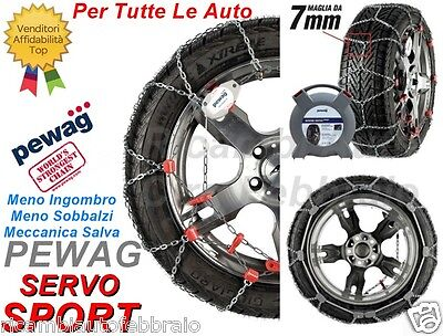 Catene Neve 7mm PEWAG SERVO SPORT RSS64 Per RENAULT CLIO III Gomme 205/45R16