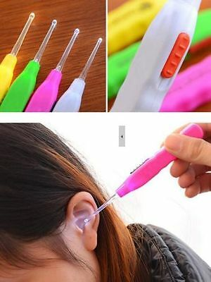 1x Random Color New Ear Pick Plastic Cleaner Curette Health Care With LED Light
