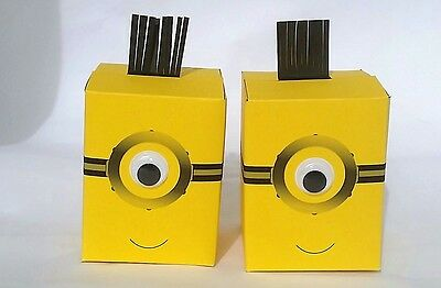 Minions party bags / cup cake boxes / sweet boxes for party favours