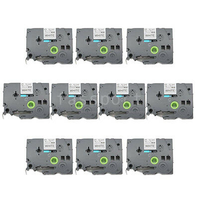 """10pk Black on White Label Compatible for Brother P-Touch TZ TZe 231 12mm 1/2"""""""