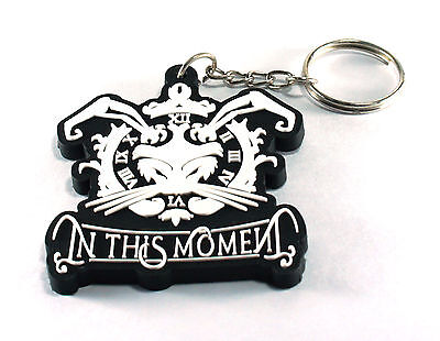 RockHyena IN THIS MOMENT New! Rubber Keychain Keyring Key chain (Whore) AA248