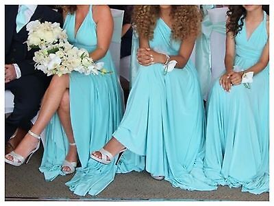 Stunning Two Birds Bridesmaid Dresses Shade Is Tiffany Blue X 3 Size A