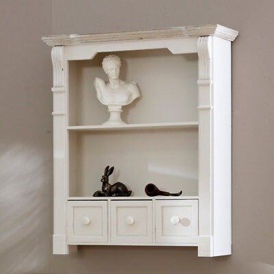 Cream Shelf Unit with Drawers storage shelves display kitchen french country