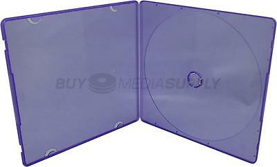 5mm Slimline Purple Color 1 Disc CD/DVD PP Poly Case - 100 Pack