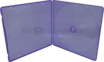 5mm Slimline Purple Color 1 Disc CD/DVD PP Poly Case - 1000 Pack