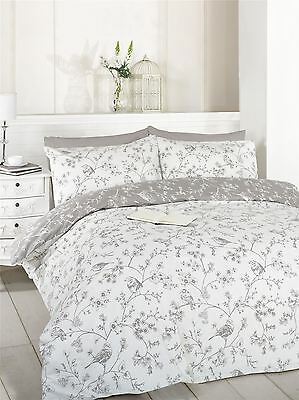 Bird Toile - Double - Taupe Duvet Cover