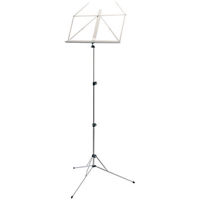 K&M 101 Folding Music Stand for Books & Sheet Music (Nickel)