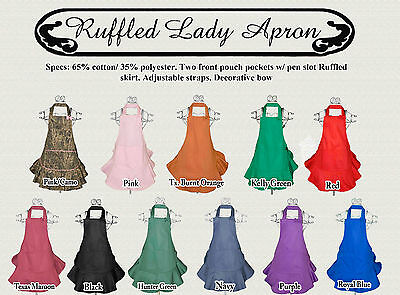 Lady Ruffled Apron | Various Colors available | Gift Ideas