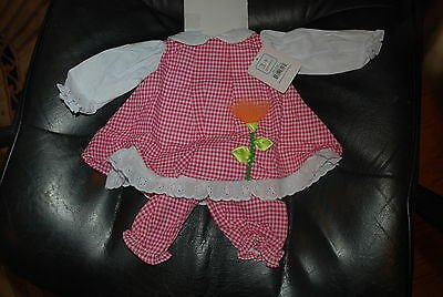 Pretty in Gingham Doll  Outfit for 19 to 20 Inch Dolls New in Pacakge
