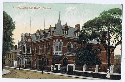 NEATH Constitutional club, Old Postcard by Valentine Unused