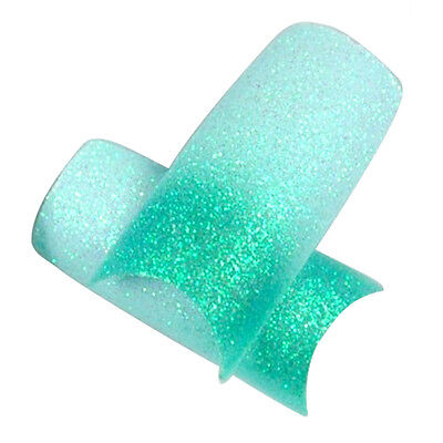 Light Blue & Green False French Nail Art Tips (About 50pcs) SP