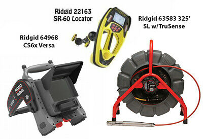 Ridgid 325' Color SL Reel w//TS (63583) Seektech SR-60 (22163) CS6X Versa(64968)