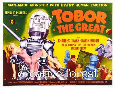 TOBOR THE GREAT Vintage Sci Fi Movie Poster CANVAS PRINT 30x24 In
