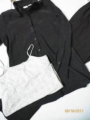 mixed lot maternity work clothes size small brown button down top pants gap