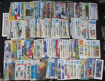 Gas Station Oil Company Road Maps USA 1970's Lot of 133