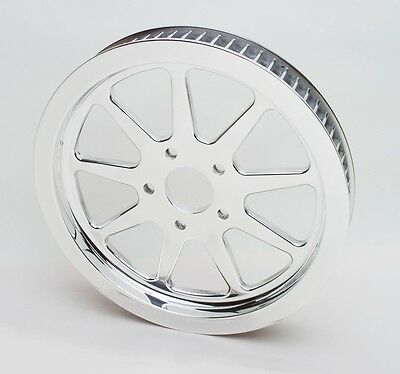 BDL 9 Spoke 70 Tooth Pulley Polished Billet Aluminum 1984-99 Harley-Davidson
