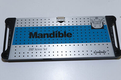 """NEW"" Synthes Mandible IMF screw Set ""Case ONLY"" 304.708.21"
