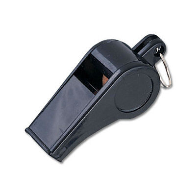 MacGregor Black Plastic Whistles - ONE DOZEN