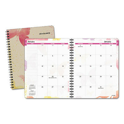 At-A-Glance Watercolors Monthly Planner 6 7/8 x 8 3/4 Watercolors 2018-2019
