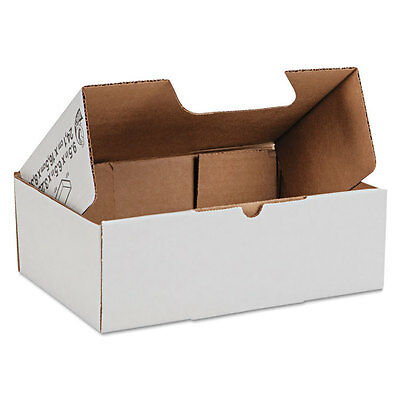 Duck Self-Locking Shipping Boxes 9 1/2l x 6 1/2w x 3 1/4h White 25/Pack 1147601