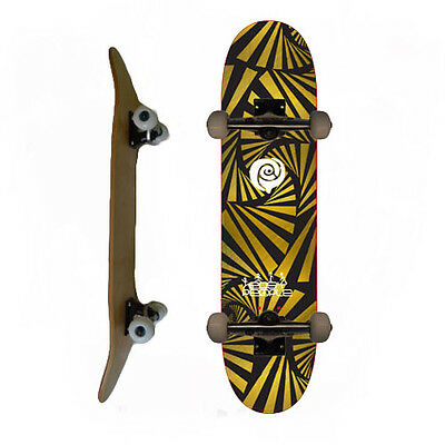 Easy People Skateboards Pro Skateboard Complete Deck SB-2 Gold Watch Out