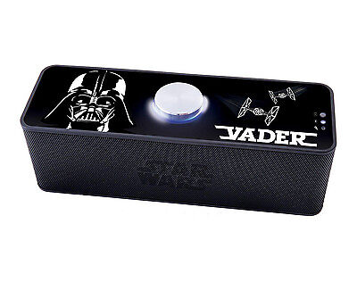 Star Wars Darth Vader Portable Bluetooth Speaker Rechargeable Battery Official
