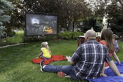 Projection Screen Home Outdoor Indoor Theater Portable Movie Theatre Screens 92""