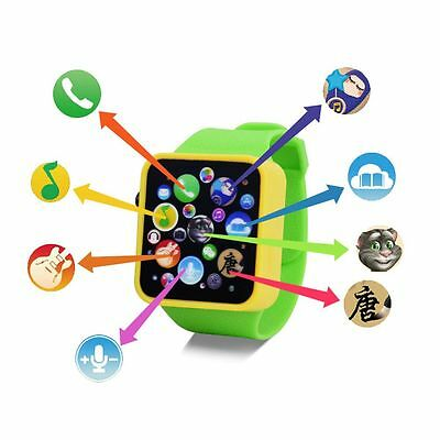 Baby Kids Child Educational 3D Smart Wrist Watch Early Learning Touch Screen Toy