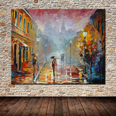 Large!! Handmade Street Tree Landscape Oil Painting On Canvas Wall Art Pictures