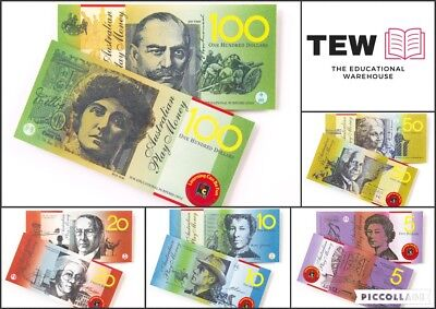 50 X Australian Play Money Notes Maths Teacher Resource Realistic Kids Pretend