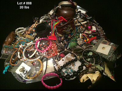Mixed FASHION JEWELRY LOT Necklaces,Watches,Bracelets,Earrings 20lbs,WEARABLE
