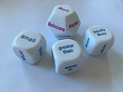 Dice Comparison Probability Pack of 4 Educational Games Teacher Resource