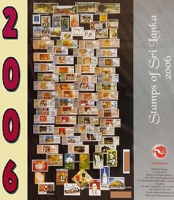 Sri Lanka Stamps Year Pack - Year 2006 Mint Collection Lot -All Issued Year 2006