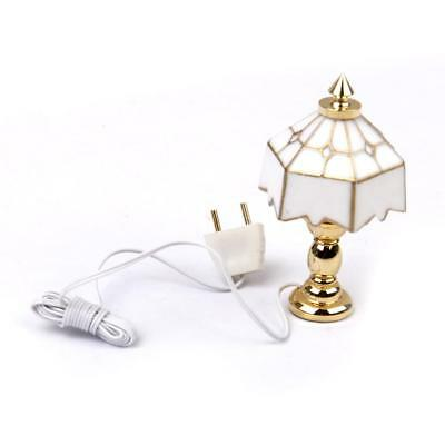 1/12 Scale Dollhouse Miniature Table Lamp light 12V With Electric Wire
