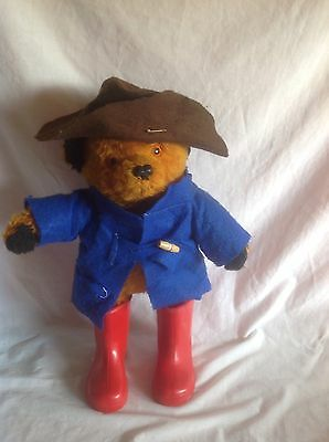 Vintage Original - PADDINGTON BEAR - 18 inch Teddy Bear - With Mother Care Boots